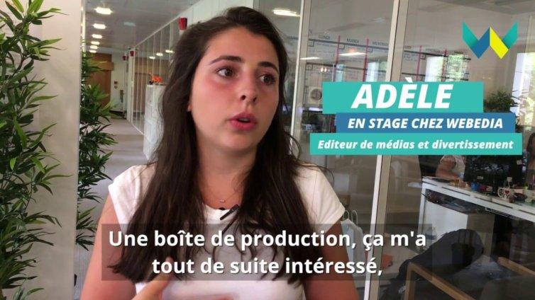 Mon stage à W : Adèle chez Webedia, éditeur de médias et divertissement